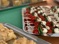 Streuselkuchen, Mozarellaspieße